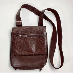 Vintage FOSSIL crossbody leather brown purse bag
